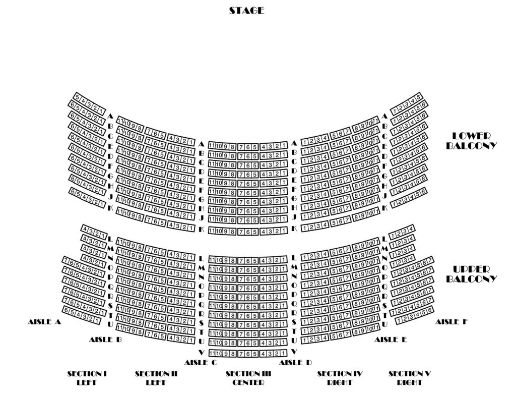 Seating charts brass band of battle creek for Balcony seating