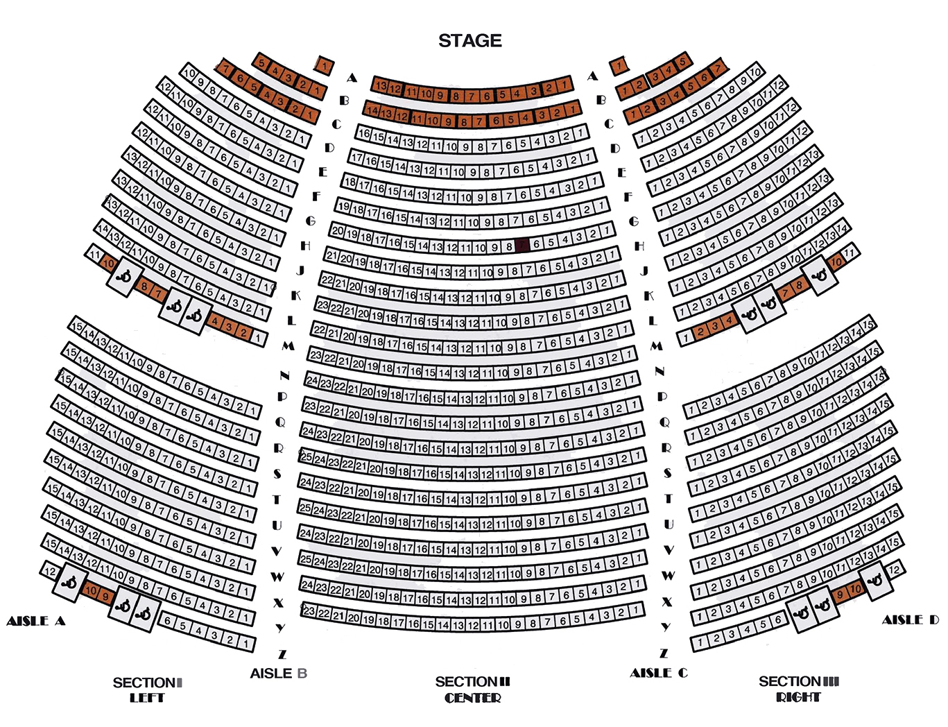 Rabobank Arena  Interactive concert Seating Chart
